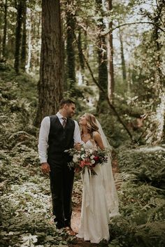 Lush forest wedding in the PNW| Image by Olivia Strohm Photography                                                                                                                                                                                 More