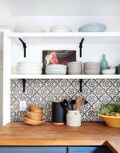 Keramik Dinding Dapur Sempit Sederhana