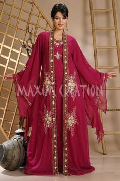 DUBAI VERY FANCY KAFTANS abaya jalabiya Ladies Maxi Dress New Wedding gown 3095 in Clothing, Shoes & Accessories   eBay