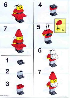 LEGO 1980 Santa's Elves instructions displayed page by page to help you build this amazing LEGO Basic set Lego Basic, Lego Duplo, Lego Toys, Lego Winter, Lego Minecraft, Lego Disney, Lego Christmas Ornaments, Lego Christmas Village, Lego Advent Calendar