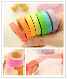NEW-DIY-Decorative-Washi-Rainbow-Sticky-Paper-Masking-Adhesive-Tape-Scrapbooking  http://www.ebay.com/itm/321641767817