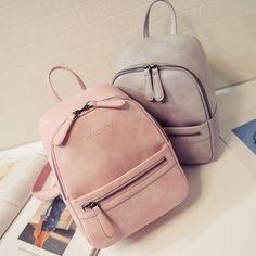 US  14.03 64% OFF Women Backpack New Fashion Casual PU Leather Female  feminine backpack for teenage girls school bag solid mini Small backpack-in  Backpacks ... d2e8cf590b
