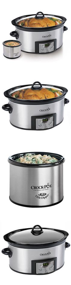 Cookers and Steamers 20672: Crock-Pot Programmable 6-Quart Slow Cooker W Dipper And Recipe Book -> BUY IT NOW ONLY: $49.99 on eBay!