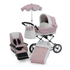 New Babystyle Prestige 3 in 1 Pram in Vintage Rose Chrome chassis & accessories