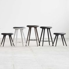 Pictured in use with the Aluminum Space Stool and the Space Low Stool (sold separately)