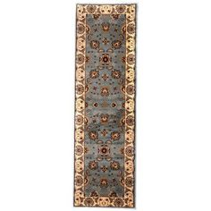 "Liberty Oriental Rugs Brillante Blue/Cream Area Rug Rug Size: Runner 2'3""W x 7'6""L"