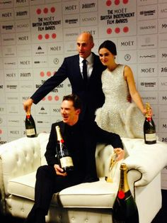 Keira & Mark Strong presented Ben with the honorary Variery Award. #Moet #BIFAS
