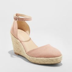97b65942aac Women s Olivia D Orsay Closed Toe Espadrille Wedge - A New Day Blush 5.5