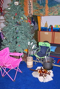 Dramatic play ideas for market, campground, and post office