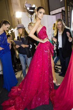 Zuhair Murad at Couture Fall 2014 (Backstage)