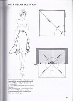 Patternmaking by Pennie Annie - issuu Skirt Patterns Sewing, Clothing Patterns, Coat Patterns, Blouse Patterns, Sewing Clothes, Diy Clothes, Sewing Coat, Barbie Clothes, Square Skirt