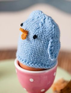 Egg cosy knitting pattern - goodtoknow. Has 3. The chick, girl with pleats and a french man
