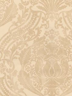 Lovely Taupe Damask Wallpaper from the Damask Stripes & Toile Library Book at AmericanBlinds.com #wallcovering