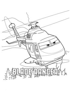 coloring page Planes 2 - blade ranger 2