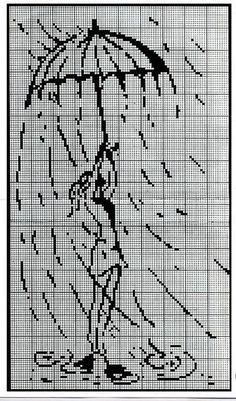 Points de croix *@* Raining