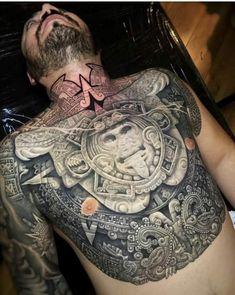 Chicano Art Tattoos, Forarm Tattoos, Body Art Tattoos, Sick Tattoo, Badass Tattoos, Tattoos For Guys, Aztec Tattoo Designs, Tattoo Sleeve Designs, Aztec Tattoos Sleeve