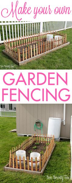 Make your own garden fencing! I'm thinking of this for around our beds if I can't get it together to fence off the whole garden.