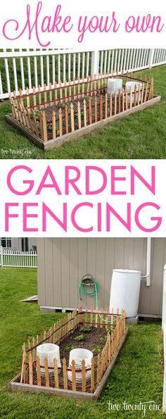 Make your own garden fencing!