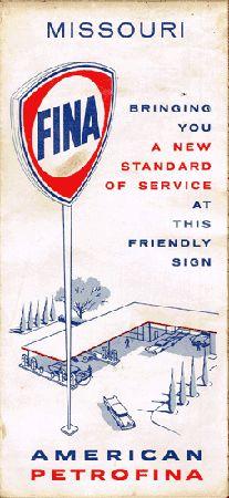 Vintage Gas Station Fina Highway Map Of Missouri 1 00 Vintage Original Magazines For 1