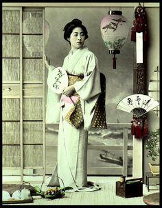 Vintage photo of Japanese woman