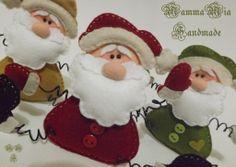 Ho Ho Ho by Mamma Mia Handmade.tutorial and pattern on Felt Christmas Decorations, Felt Christmas Ornaments, Santa Ornaments, Christmas Snowman, Christmas Makes, Christmas Time, Felt Crafts, Holiday Crafts, Santa And His Reindeer