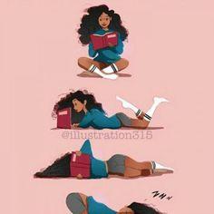 Me when reading a book…Afro art Me when reading a book…Afro art Black Love Art, Black Girl Art, Art Girl, Photo Panda, Art Sketches, Art Drawings, Natural Hair Art, Black Girl Cartoon, Black Art Pictures