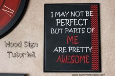Wood Sign Tutorial with Mod Podge Rocks Stencils #chevron #ModPodge #Stencil