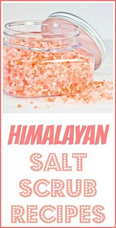 Make your own salt scrubs with essential oils and pure natural pink Himalayan salt, which comes from a pure mountain environment.