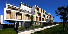 Il quartiere Milanofiori Nord. Località: Assago, Milano; architects masterplan Milanofiori: (EEA) Erick Van Egeraat associated;  architects modello abitativo: OBR (Open Building Research)