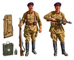 ARMATA ROSSA - Incursione al campo di Maikop. Uniforme M37 de la NKVD, Sergente e Maggiore Jhonny Shumate