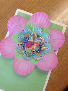cupcake paper flower