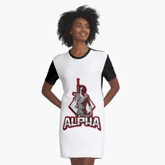 'I'm The Alpha Graphic T-Shirt Dress by CavemanMedia Alpha Apparel, Alpha 7, Red Gloves, T Shirt, Shirt Dress, Full Figured, Mom And Dad, I Dress, Products