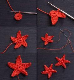 """Pendientes de ganchillo """"Estrella de mar"""""""