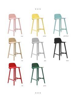 Muuto 'Nerd' bar stools @Muuto