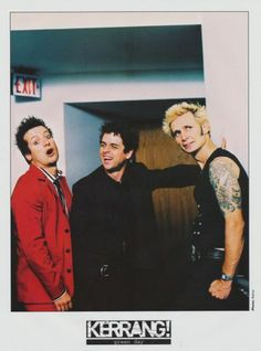 """Green Day: Tré is being Tré, Billie is laughing with Tré and Mike is just like """"Are you seeing this?"""""""