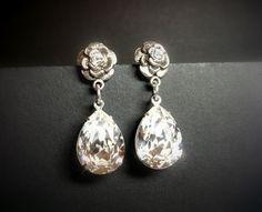 Swarovski crystal earrings vintage