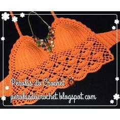 * Pérolas do Crochet: Croppeds tops em crochet