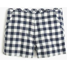 J.Crew Girls' Frankie short in gingham ($50) ❤ liked on Polyvore featuring girl pants