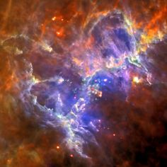 New Herschel and XMM-Newton Image of M16Credit: far-infrared: ESA/Herschel/PACS/SPIRE/Hill, Motte, HOBYS Key Programme Consortium; X-ray: ESA/XMM-Newton/EPIC/XMM-Newton-SOC/Boulanger Combining almost opposite ends of the electromagnetic spectrum, this composite of the Herschel in far-infrared and XMM-Newton's X-ray images