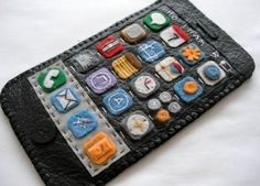 leather and felt iPhone case..