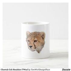 Cheetah Cub Headshot Coffee Mug