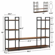 17 Stories SUNFLOWR Large 3-Piece Entertainment Centre Wall Units With Storage Shelves   Wayfair.ca Home Decor Furniture, Furniture Deals, Living Room Furniture, Living Room Storage, Living Room Tv, 3 Piece Tv Stand, Storage Shelves, Storage Spaces, Bookcase Tv Stand