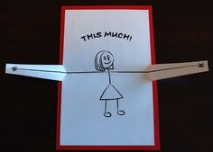 I Love You...This Much Popup Card by PeadenScottDesigns on Etsy