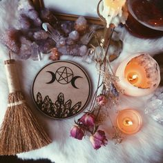 "etsycult: "" Triple Crystal Goddess Altar Tile https://www.etsy.com/listing/237743047/triple-crystal-goddess-altar-tile? "" what a fab aesthetic"