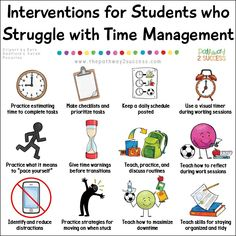 School psychology resources - Interventions for Executive Functioning Challenges Time Management – School psychology resources Psychology Resources, School Psychology, Behavioral Psychology, Developmental Psychology, Psychology Experiments, Educational Psychology, Psychology Facts, Social Emotional Learning, Social Skills