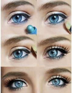 Blue eye makeup - Great for Spring and Summer Weddings!
