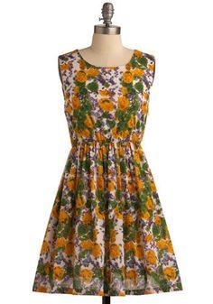 Paint the Roses Dress | Mod Retro Vintage Printed Dresses | ModCloth.com - StyleSays