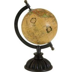 Bring a touch of brownstone style to your d�cor with this eye-catching essential, an enviable addition your well-appointed home.  Product: GlobeConstruction Material: Mango wood, paper, iron and brassColor: MultiFeatures:   Traditionally classic styleWill enhance any setting Dimensions: 9.25 H x 5 Diameter