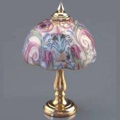 Enchanting Miniatures and Gifts, Minature Dolls House Furniture - Miniature Antique Lamp Reutter 1:634/8 - Fine Furnishings In Miniature