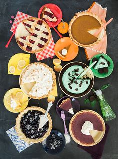 Rainbow Pies: Yummy Pies baked in and served on Fiesta® Dinnerware | The House That Lars Built